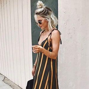 Contemporary Striped Maxi Dress